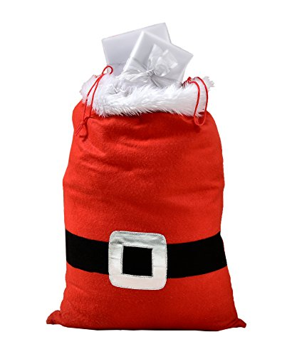 Christmas Gift Sack - Santa Claus Style Bag With Drawstring