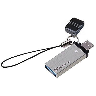 Verbatim Store'n' Go OTG Tiny USB 3.0 Drive 16 Pen Drive (Silver)