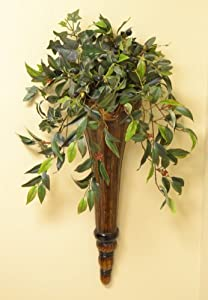 Amazon.com - Chocolate Wall Sconce with Silk Greenery - Artificial Mixed Flower Arrangements