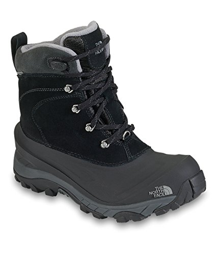 The North Face Boys' Chilkat II Boot - black/griffin gray, 8 youth