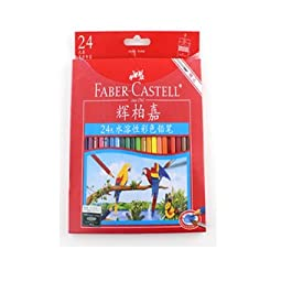 Faber-Castell 48Colors Water Soluble Colored Pencils Set For Artist School Sketch Drawing Pen Children Special Gift Art Supplies (F#2)