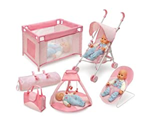 Amazon.com: Badger Basket Five Item Doll Furniture And Accessory