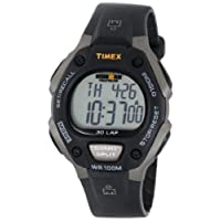 Timex Men's T5E901 Ironman Traditional 30-Lap Gray/Black Resin Strap Watch