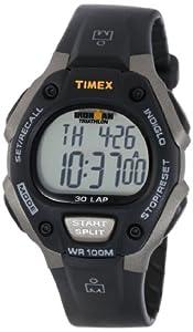 Timex Men's T5E901 Ironman Traditional 30-Lap Gray/Black Resin Strap Watch