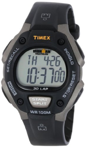 "Timex Men's T5E901 ""Ironman"" Watch with Black Resin Band image"