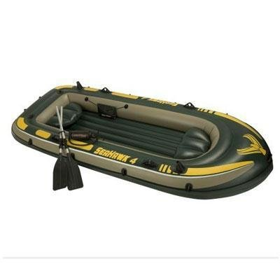 Buy Low Price INTEX Seahawk 4 Inflatable Rafting/Fishing Boat Set (B004Y3E0SW)