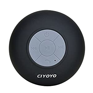 CIYOYO Waterproof Wireless Bluetooth Shower Speaker Handsfree Speakerphone Compatible with All Bluetooth Devices Iphone 5s and All Android Devices by Shenzhen Yunmi Technology Co., Ltd.