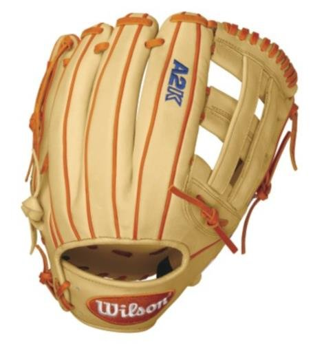 Wilson A2K DW5 David Wright Infield Baseball Glove, Blonde/Orange/White, Right Hand Throw, 12-Inch hellboy giant right hand anung un rama right hand of doom arms hellboy animated cosplay weapon resin collectible model toy w257