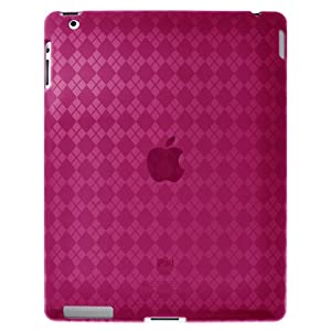 Amzer Luxe Argyle High Gloss TPU Soft Gel Skin Case for Apple iPad 2 - Hot Pink (AMZ90785)