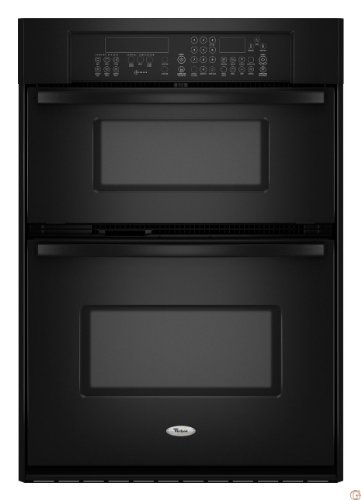 Whirlpool Gold GSC309PVB 30 Built-in Microwave Combination Double Wall Oven - Black