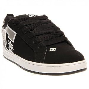 DC Men's Court Sneaker,Black/Grey,8 M US