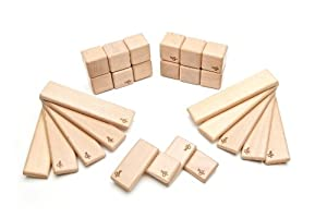 26 Piece Tegu Discovery Magnetic Wooden Block Set, Natural