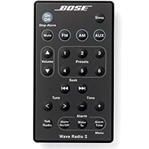 bose wave radio ii remote black electronics. Black Bedroom Furniture Sets. Home Design Ideas
