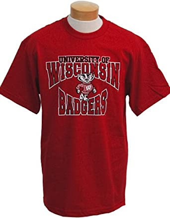 Buy NCAA Wisconsin Badgers Colossus Short Sleeved T-Shirt by CI Sport