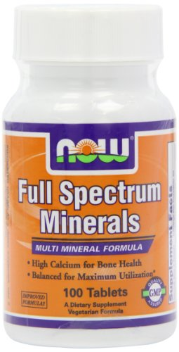 NOW Foods Full Spectrum Minerals, 100 Tablets (Pack of 2)