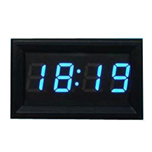vktech 12v 24v mini horloge led num rique pour voiture et. Black Bedroom Furniture Sets. Home Design Ideas