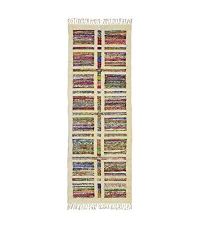 Jute & Co. Tappeto Kilim In Cotone Tessuto A Mano [Multicolore]