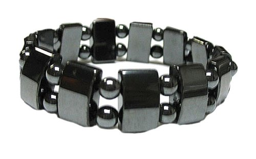 Wide Hematite Powerful Magnetic Bracelet for Arthritis Pain Releif or for Sports Related Therapy