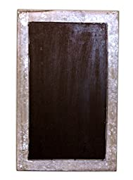 19.5\'\' Vertical Hanging Chalkboard in Metal Box Frame