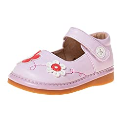Little Blue Lamb Squeaky Shoes, Girls, with Removable Squeaker, Wide Head (for Baby / Toddler / Kid)