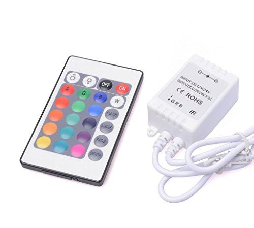 Amars(Tm) 24 Key Remote Ir Controller For Rgb 3528 5050 Led Strip Diy Accessories