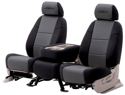 Coverking Custom Fit Rear 60//40 Bench Seat Cover for Select Nissan Titan Models Neosupreme 2-Tone Tan with Black Sides