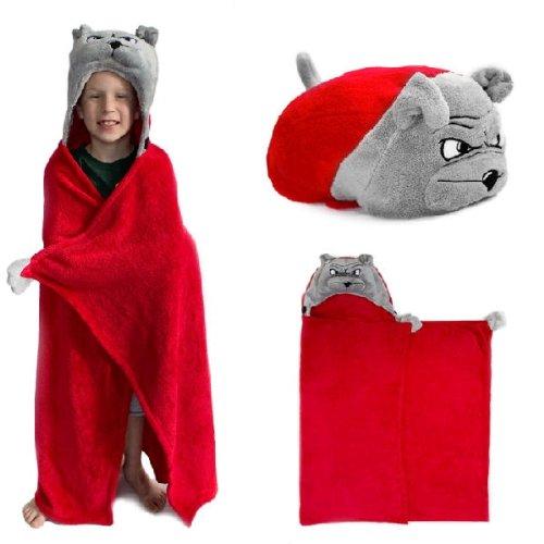 Georgia Bulldogs NCAA Huggable Hooded Mascot Blanket