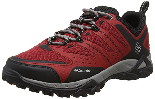Columbia Peakfreak Xcrsn Xcel Outdry - Scarpe Running uomo, Multicolore (Red Dahlia/Cool Grey), taglia 42