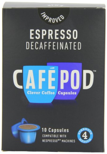 CafePod Nespresso Compatible Decaffeinated 10 Capsules (Pack of 8, Total 80 Capsules)