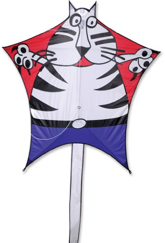 Premier 45906 5-Sided Polygonal Penta Kite with Solid Fiberglass Frame, Cat