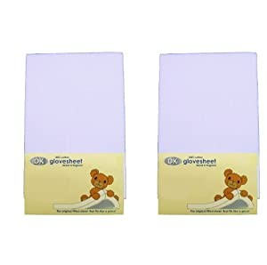 DK Glovesheets Two Fitted Swinging Crib Sheets 100% Combed Jersey Cotton To Fit Mattress Size 84 x 43 cm BLUE TWO PACKS