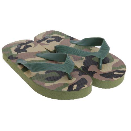 Childrens Boys Summer Beachwear Camouflage Flip Flops