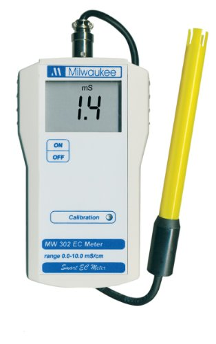 Milwaukee MW302 LED Economy Portable Conductivity EC Meter with 1 Point Manual Calibration, 0 to 10.00 milliSiemens/cm, 0.1 milliSiemens/cm Resolution, 2 percent Accuracy