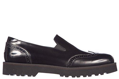 Hogan slip on donna in pelle sneakers nuove originali route pantofola nero EU 35 HXW2590R331AKTB999