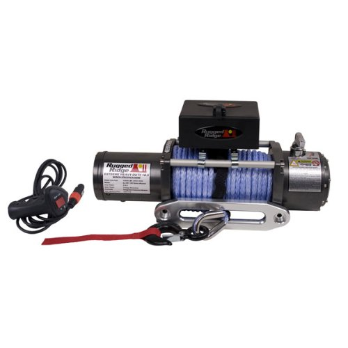 Red Ridge 15100.11 10,500 lbs. Winch with 25/64'' X 94' Synthetic Rope and Hawse Fairlead
