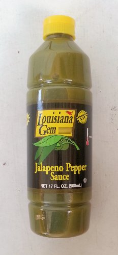 Jalapeno Pepper Medium Hot Sauce By Louisiana Gem 17 Fl Oz. (2 Pack).. Amtc