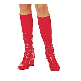 Red Hot Knee High Go Go Boot Tops for Sexy Costume