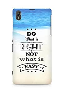 Amez Do what is Right Not what is Easy Back Cover For Sony Xperia Z1 C6902