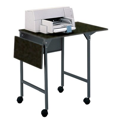 Safco Products 1876BL Machine Stand/Desk with Drop Leaves