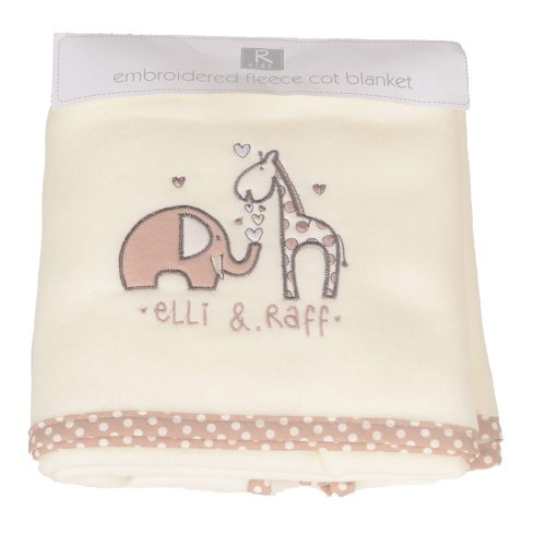 Beam-Feature-Elli-Raff-Emblem-Fleece-Cot-Blanket-FREE-DELIVERY