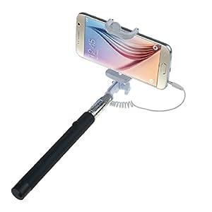 Chianrliu Extensible Poche Auto-Portrait Titulaire Monopode BâTon télécommande intégré sans fil Pour TéLéPhone Cellulaire pour smartphone/téléphone portable iPhone 6,iPhone 6 Plus 5s 5c 5 4s 4,Samsung Galaxy S5 S4 S3, Note 10.1 8 3 2 Moto X, Droid 2, Google Nexus 4, 5, 7, 8 etc (noir)