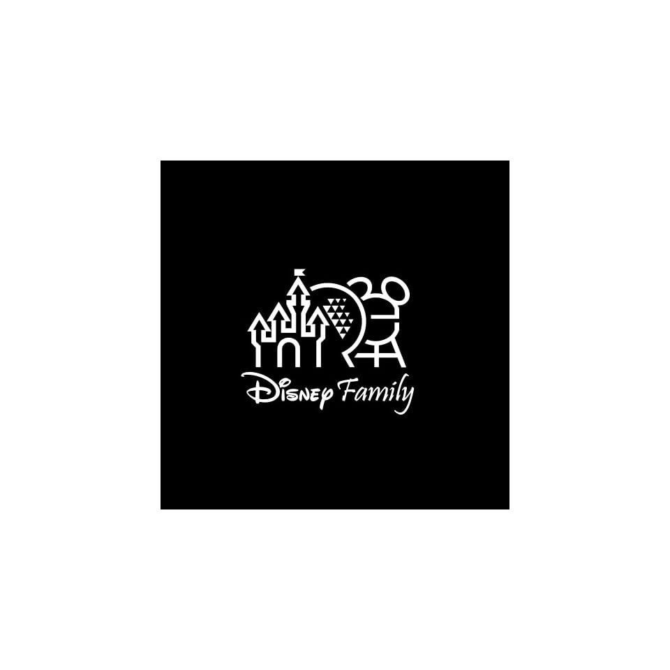 "Disney Family #2 Car Window Decal Sticker White 5"" Automotive"