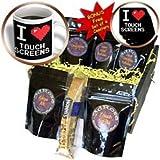 Dooni Designs Geek Designs - Geeky Old School Pixelated Pixels 8-Bit I Heart I Love Touchscreens - Coffee Gift Baskets - Coffee Gift Basket