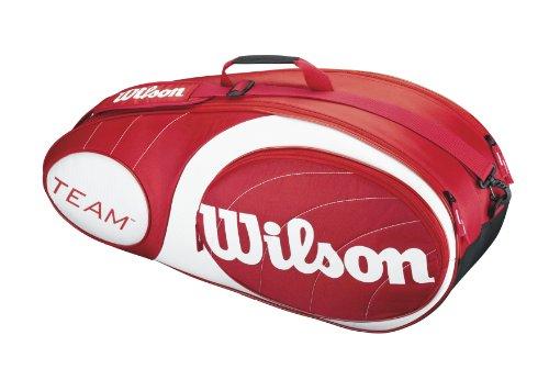 Wilson Sporttasche Team Collection 6 Pack, Red/White, 76 x 25.5 x 34.3 cm, 40 Liter, WRZ852406