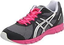 Big Sale ASICS Women's Rush33 Running Shoe,Titanium/White/Neon Pink,8.5 M US