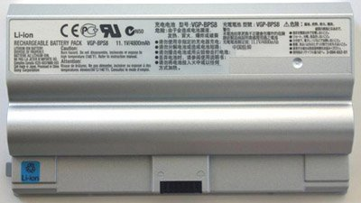 Laptop Battery for SONY VAIO VGN-FZ series, PN: VGP-BPL8, VGP-BPS8, VGP-BPL8A, VGP-BPS8A, VGP-BPS8B (Silver)