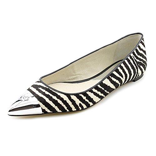 Michael Kors Paxton Womens Size 6 Black Hair Fur Flats Shoes