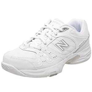 New Balance Women's WC655 Tennis Shoe,White/Silver,9.5 B US
