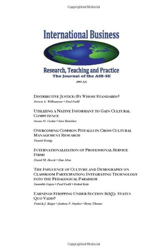 International Business: Research, Teaching and Practice. the Journal of the Aib-Se