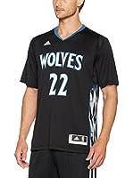 adidas Camiseta Manga Corta Minnesota Timberwolves (Negro / Azul)